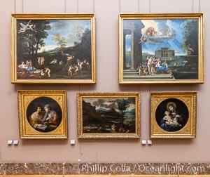 Italian Gallery artwork, Mus�e du Louvre. Musee du Louvre, Paris, France, natural history stock photograph, photo id 35711