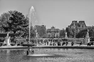Jardin des Tuileries. The Tuileries Garden is a public garden located between the Louvre Museum and the Place de la Concorde in the 1st arrondissement of Paris. created by Catherine de Medicis as the garden of the Tuileries Palace in 1564. Jardin des Tuileries, Paris, France, natural history stock photograph, photo id 28229