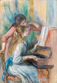 """Jeunes filles au piano, Pierre-Auguste Renoir, Musee de l""""Orangerie, Musee de lOrangerie, Paris, France"""