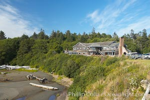 Kalaloch Lodge sits atop bluffs overlooking the Kalaloch River and Pacific Ocean. Kalaloch, Olympic National Park, Washington, USA, natural history stock photograph, photo id 13782