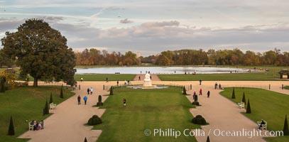 Kensington Park viewed from Kensington Palace. London, United Kingdom, natural history stock photograph, photo id 28295
