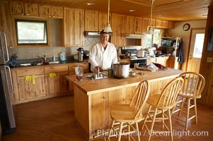 Kitchen and chef Steve, Silver Salmon Creek Lodge, Lake Clark National Park, Alaska
