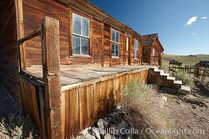L.E. Bell House, front porch, Union Street and Park Street, Bodie State Historical Park, California