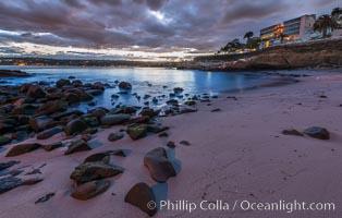 La Jolla Cove and pre-dawn light. California, USA, natural history stock photograph, photo id 28848