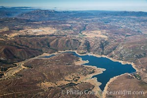 Lake Sutherland, in San Diego east county, viewed from the northeast. California, USA, natural history stock photograph, photo id 27946