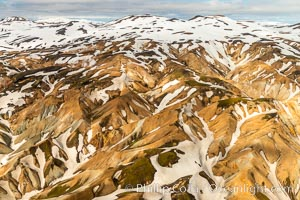 Landmannalaugar highlands region of Iceland, aerial view