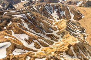 Landmannalaugar highlands region of Iceland, aerial view