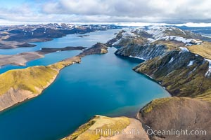 Langisjor Iceland, Aerial View., natural history stock photograph, photo id 35746