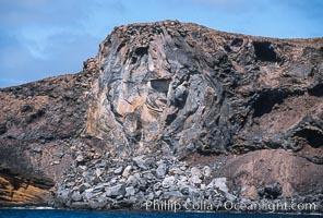 Lava tube terminates at shoreline, Guadalupe Island (Isla Guadalupe)