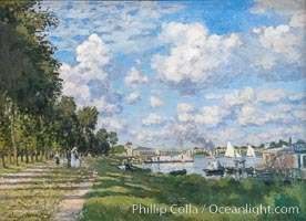 Le Bassin d'Argenteuil, Claude Monet, Musee d'Orsay, Paris. Musee dOrsay, France, natural history stock photograph, photo id 35654