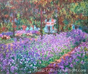 Le Jardin de l'artiste a Giverny, 1900, Claude Monet, Musee d'Orsay, Paris. Musee dOrsay, France, natural history stock photograph, photo id 35658