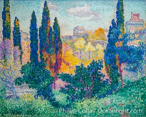 Les cypr�s � Cagnes by Henri Edmond Cross, Musee d'Orsay, Paris, Musee dOrsay