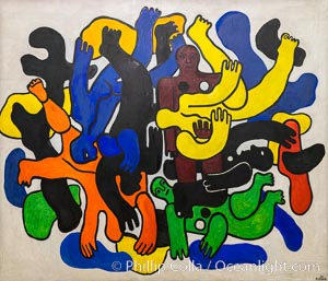 Les grands plongeurs noirs, Fernand Leger, 1944, Le Centre Pompidou. Paris. Musee National dArt Moderne, Paris, France, natural history stock photograph, photo id 35685