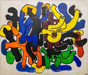 Les grands plongeurs noirs, Fernand Leger, 1944, Le Centre Pompidou. Paris, Musee National dArt Moderne