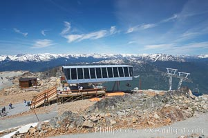 Lift station at the summit of Whistler Mountain