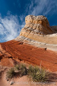 Brilliant red striations around the base of this pinnacle are responsible for its name: the Lollipop. White Pocket, Vermillion Cliffs National Monument, Arizona, USA, natural history stock photograph, photo id 26607