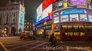 London at Night. London, United Kingdom, natural history stock photograph, photo id 28276