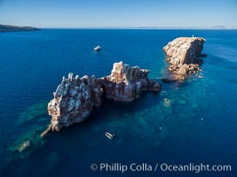 Los Islotes, part of Archipelago Espiritu Santo, Sea of Cortez, Aerial Photo