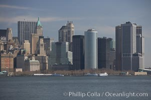 Lower Manhattan skyline viewed from the Hudson River, New York City
