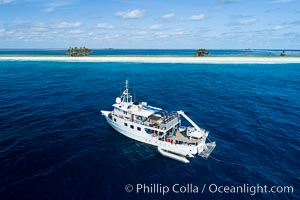 M/V Nautilus Undersea at Clipperton Island.  Clipperton Island, a minor territory of France also known as Ile de la Passion, is a small (2.3 sq mi) but  spectacular coral atoll in the eastern Pacific. By permit HC / 1485 / CAB (France)