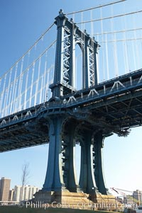 Manhattan Bridge viewed from Brooklyn, New York City
