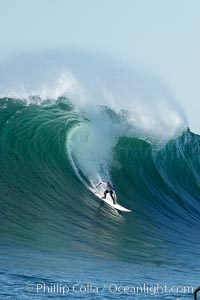 Evan Slater, final round, Mavericks surf contest (fifth place), February 7, 2006, Half Moon Bay, California