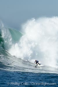 Evan Slater, Mavericks surf contest (fifth place), February 7, 2006, Half Moon Bay, California