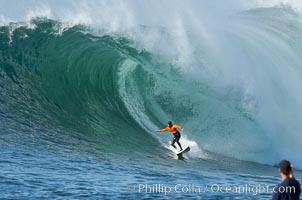 Brock Little, final round, Mavericks surf contest (third place), February 7, 2006, Half Moon Bay, California