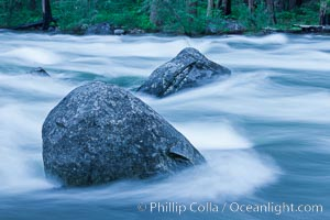 Merced River reflections and textures, Yosemite Valley, Yosemite National Park, California