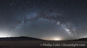 Milky Way and Shooting Star over Clark Dry Lake playa, Anza Borrego Desert State Park