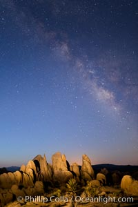 Milky Way over Joshua Tree National Park at Astronomical Twilight, Pre-dawn