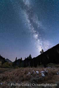 Milky Way over Mineral King Valley, Sequoia National Park