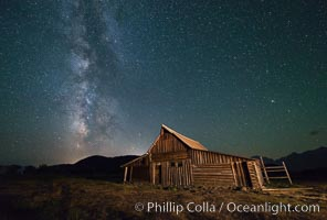 Milky Way over T.A. Moulton Barn, Grand Teton National Park