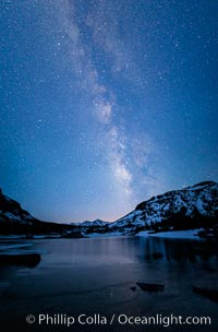 Milky Way over Tioga Lake, Yosemite National Park