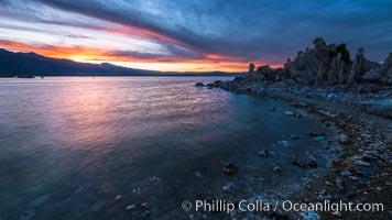 Mono Lake Tufa at Sunset. California, USA, natural history stock photograph, photo id 31072
