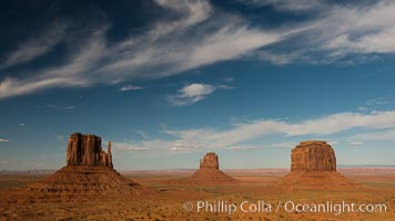 Monument Valley panorama. Arizona, USA, natural history stock photograph, photo id 28596