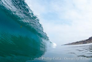 Breaking wave, Moonlight Beach, Encinitas, California