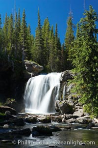 Moose Falls is a 30 foot drop in the Crawfish Creek just before it joins the Lewis River, near the south entrance to Yellowstone National Park. Yellowstone National Park, Wyoming, USA, natural history stock photograph, photo id 13297