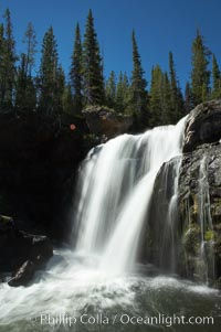 Moose Falls is a 30 foot drop in the Crawfish Creek just before it joins the Lewis River, near the south entrance to Yellowstone National Park. Yellowstone National Park, Wyoming, USA, natural history stock photograph, photo id 13299
