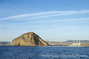 Morro Rock and Morro Bay power plant