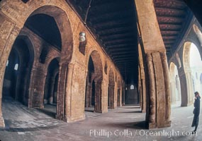 Arches, Mosque of Ibn Tulun. Cairo, Egypt, natural history stock photograph, photo id 02601