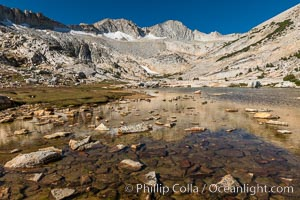 Mount Conness (12,589') over Lower Conness Lake, Hoover Wilderness, Conness Lakes Basin