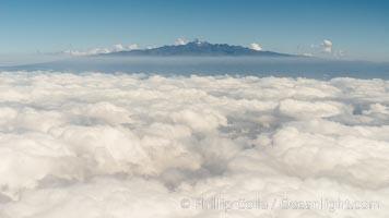Mount Kenya, aerial view from near Meru National Park