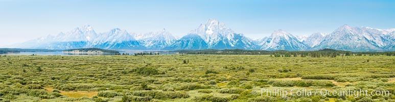 Mount Moran and Teton Range from Willow Flats, Grand Teton National Park