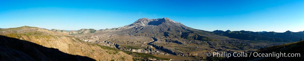Panorama of Mount St. Helens, viewed from Johnston Ridge, Mount St. Helens National Volcanic Monument