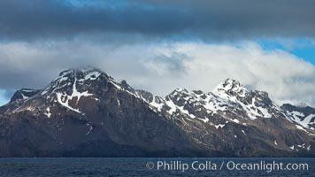 Mountains, ocean and clouds.  The rugged and beautiful topography of South Georgia Island