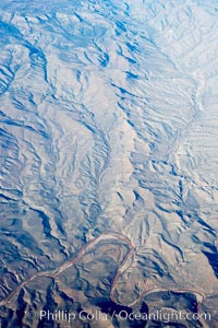 Mountains east of Roosevelt Lake, near Gila, aerial view