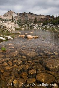 Nameless Lake, 20 Lakes Basin., natural history stock photograph, photo id 31071