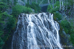 Narada Falls. Mount Rainier National Park, Washington, USA, natural history stock photograph, photo id 13840
