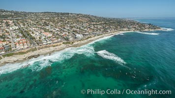 Aerial photo of Nautilus Street and  La Jolla Coast